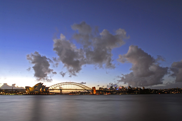 Coucher de soleil sur Sydney
