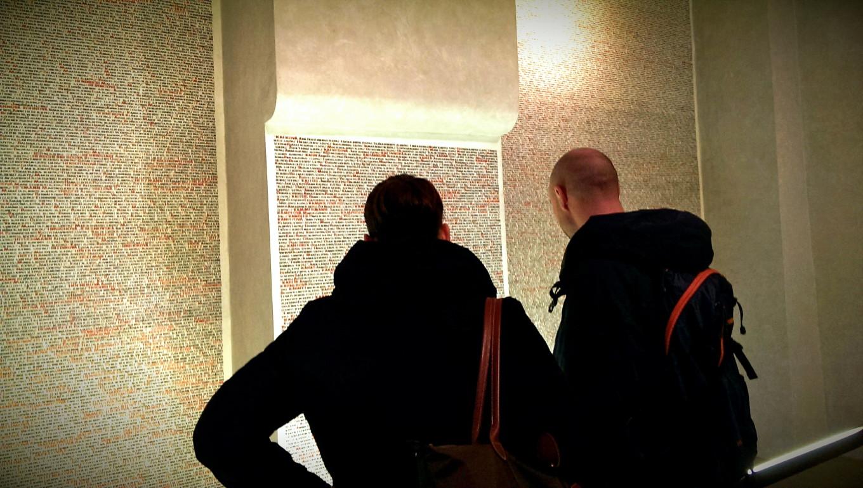 77 297 noms à la Synagogue Vieille Nouvelle, Prague, République Tchèque