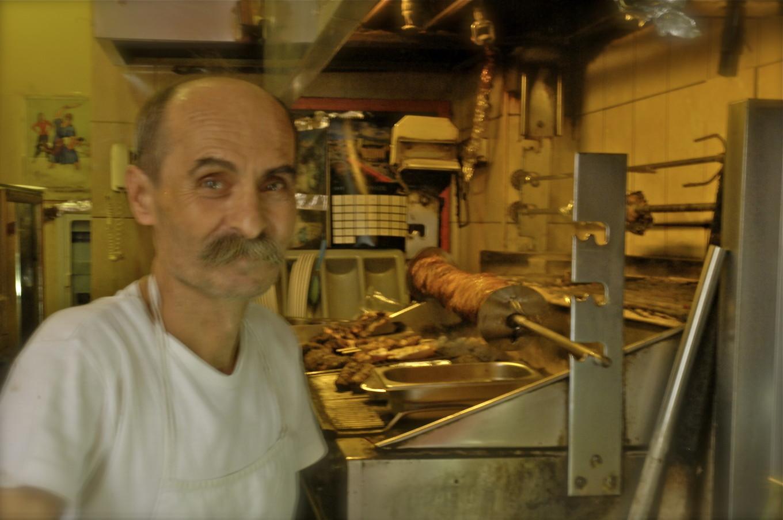 Christos, vendeur de gyros, Thessalonique, Grèce