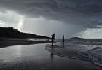 Course aux vagues, Sainte-Rose, Guadeloupe