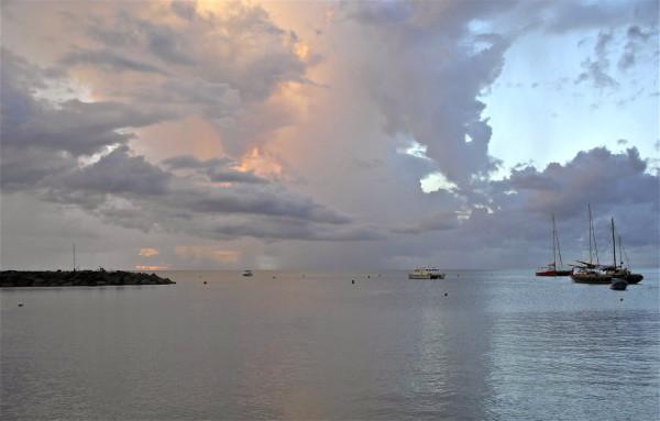 Coucher de soleil au Paradise Kafé, Deshaies, Guadeloupe