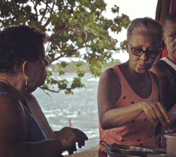Préparation sorbet coco, Sainte-Rose, Guadeloupe
