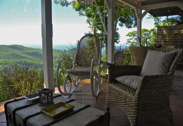Petit-déjeuner au Beauséjour Guesthouse, Pointe Noire, Guadeloupe
