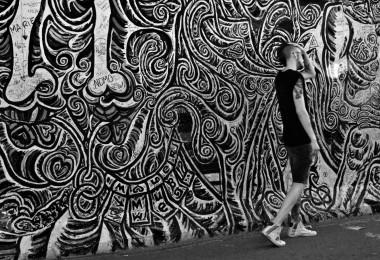 Le long du mur,Berlin, Allemagne