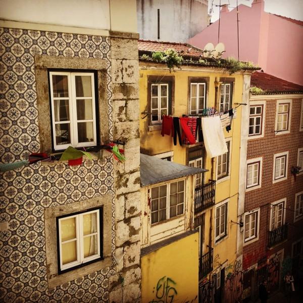 Façade du Bairro Alto, Lisbonne, Portugal
