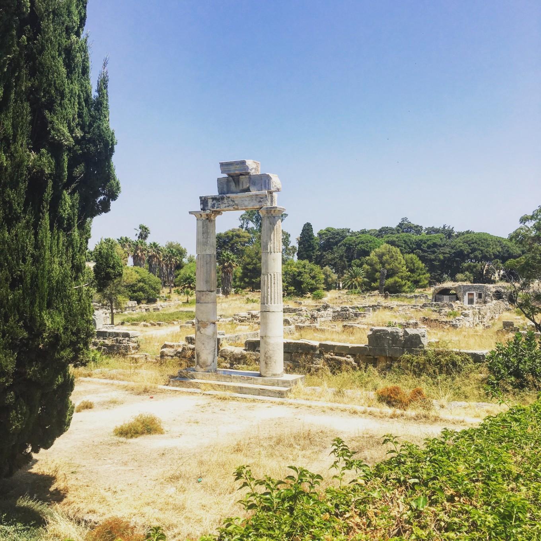 Ruines dans les rues de Kos, Kos, Grèce