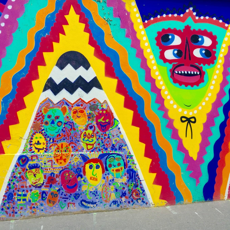 Fresque Kashina et les enfants, Art and Town, Paris