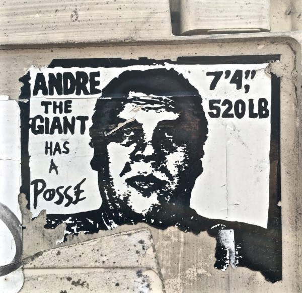 André the Giant and the Pussy by Obey, Art and Town, Paris