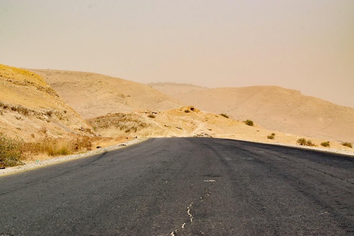 Paysage lunaire près de la Mer Morte, Jordanie