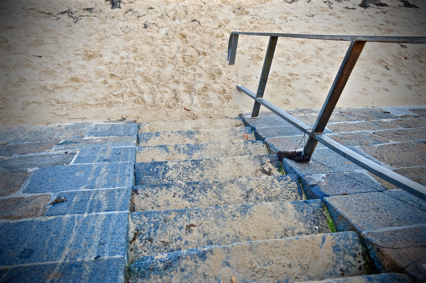 Escalier de plage, Digue de Rochebonne, Saint-Malo