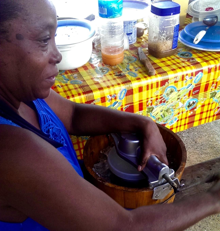 Initiation à la préparation du sorbet coco, Sainte-Rose, Basse-Terre