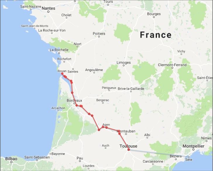 Le Canal des Deux Mers, de Toulouse à Royan à vélo