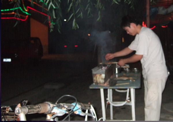 Etal de brochettes à Pékin