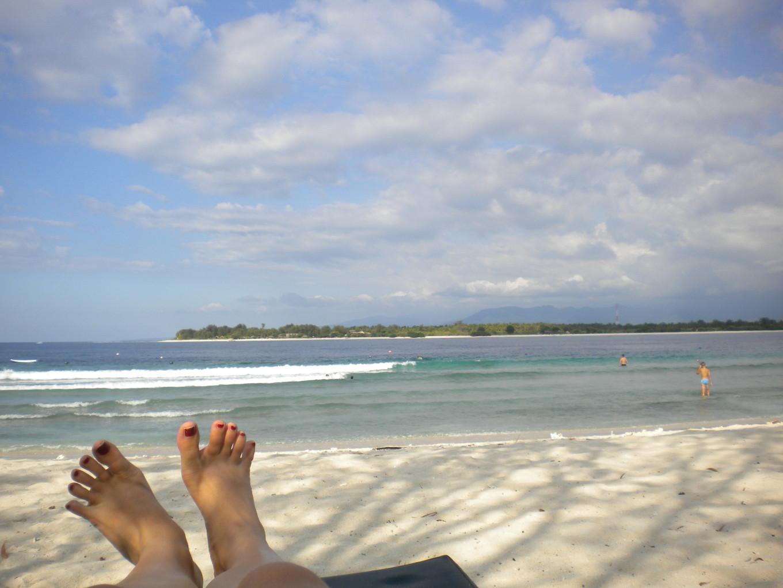 Farniente à Trawangan, îles Gili