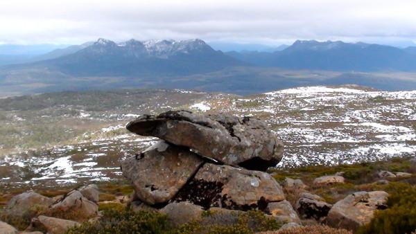 En haut du Mont Rufus, Tasmanie