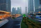 Artère dans le brouillard - Shanghaï