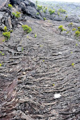 Coulée de lave Piton de la Fournaise Réunion