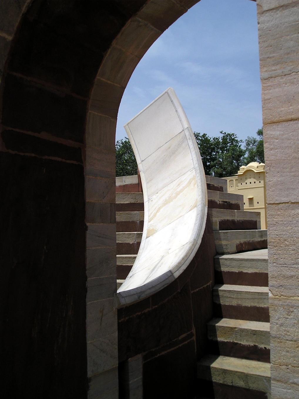 Détail d'un instrument astrologique - Jantar Mahar de Jaipur