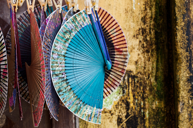 Traditional fans Hoi An