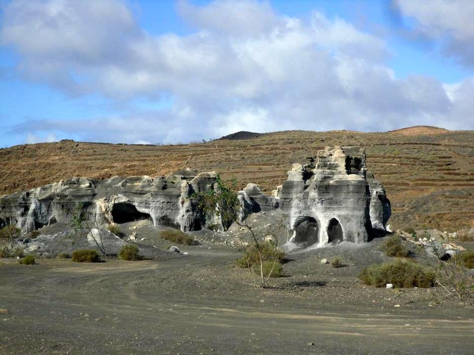Erosion naturelle à Lanzarote - Espagne