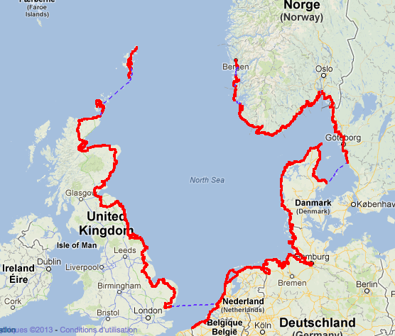 North Sea Cycle Route - Royaume-Uni, Norvège