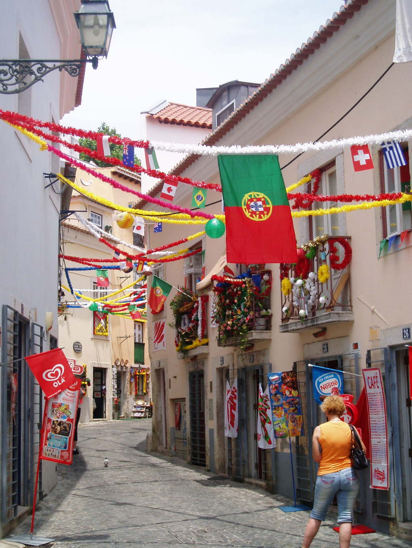 Dans les ruelles du Bairro Alto, Portugal