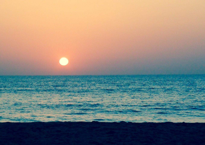 Coucher de soleil à l'écho-côtier, Sénégal