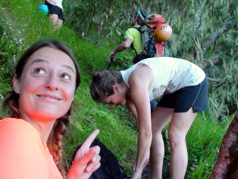 Vers les Trois Salazes, Réunion