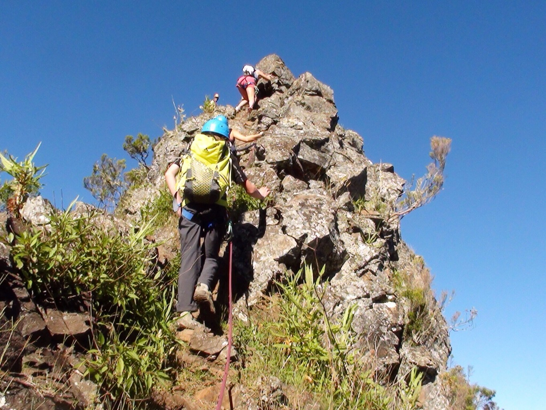 Ascension vers les Trois Salazes, Réunion