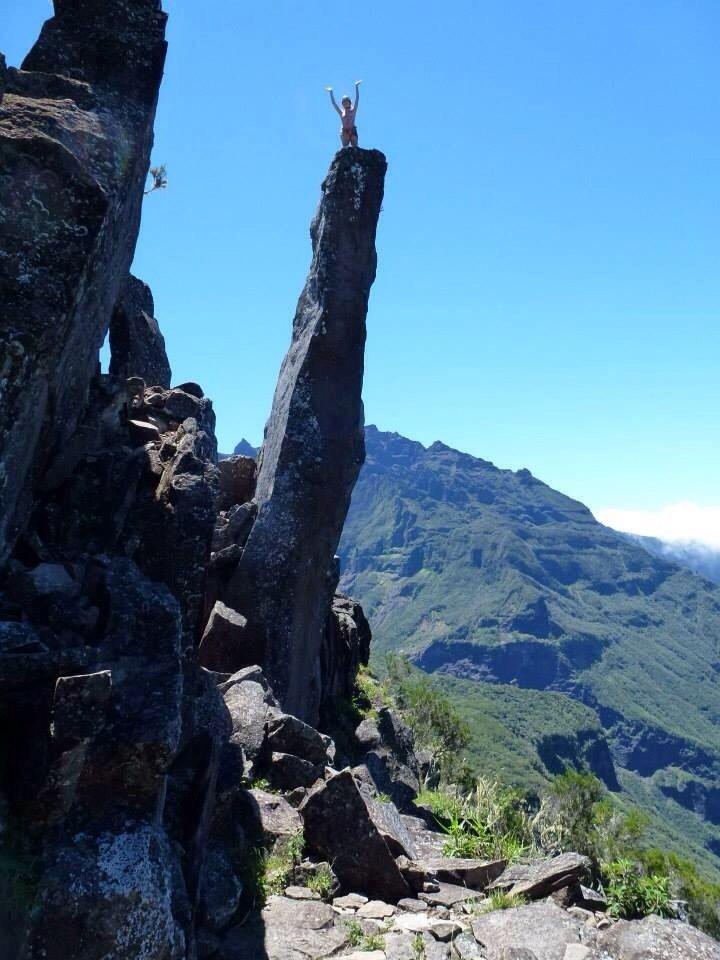 Au sommet des Salazes, Réunion