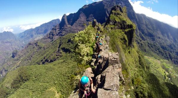 Les Trois Salazes, alpinisme tropical entre les cirques