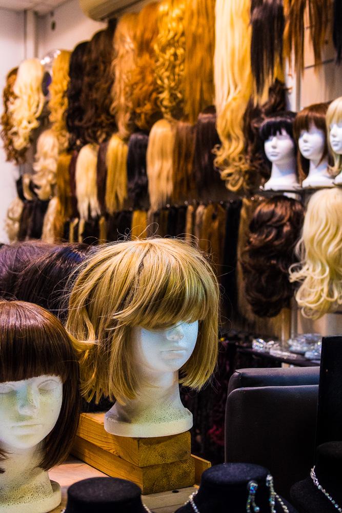 Boutique de perruques pour les juives orthodoxes, Tel Aviv, Israël