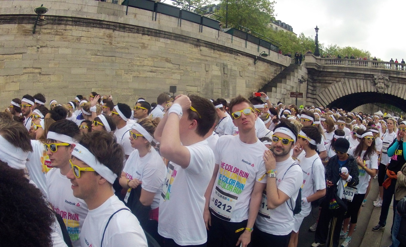 Dans les starting blocks, Color Run 2014