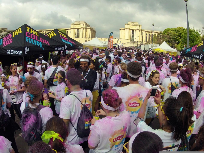 Arrivée au Trocadéro, Color Run 2014, Paris
