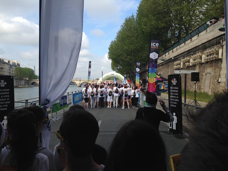 Au départ, Color Run 2014, Paris
