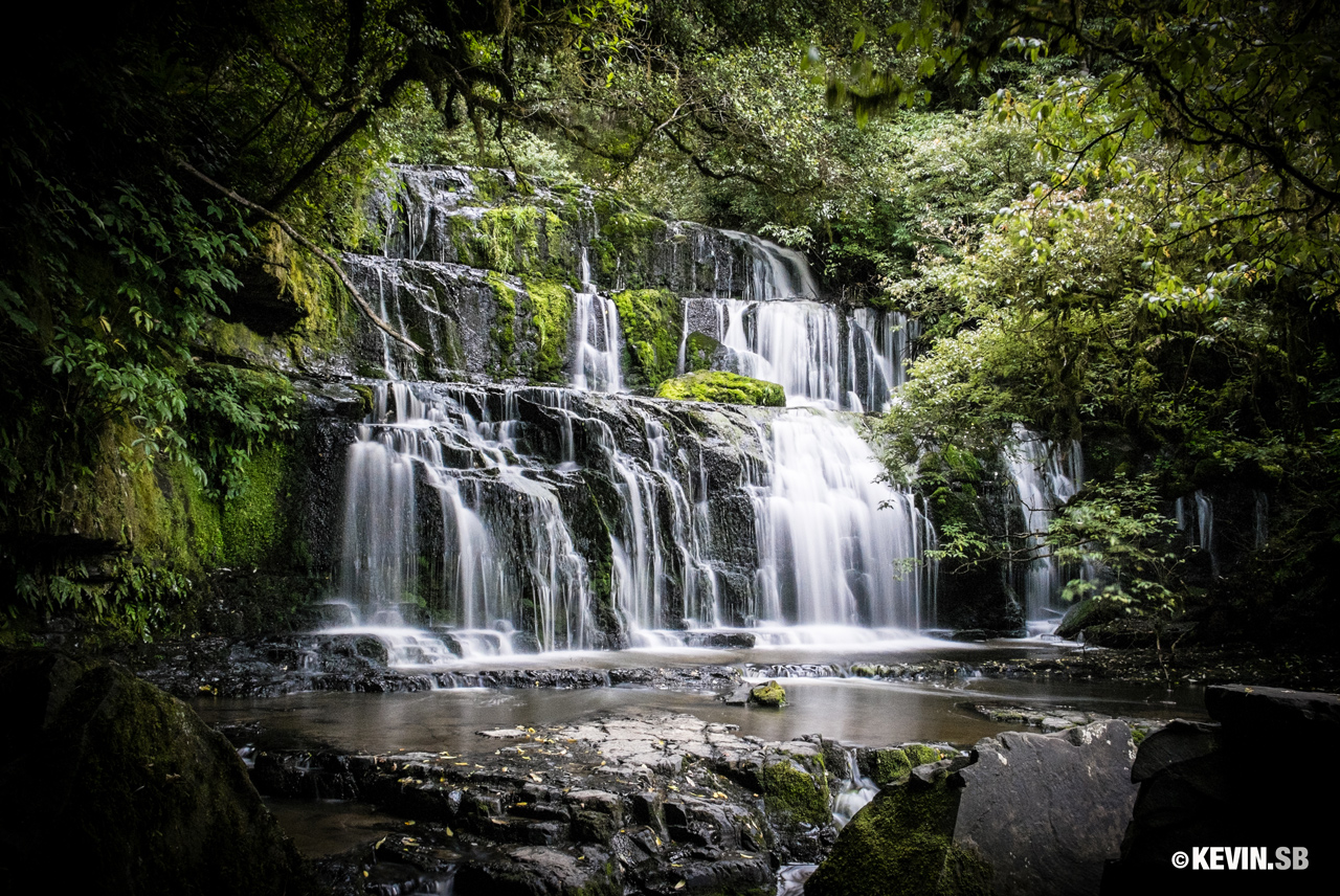 Purakauni falls, Nouvelle-Zélande