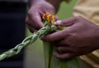 Tressage des fleurs, Tahiti