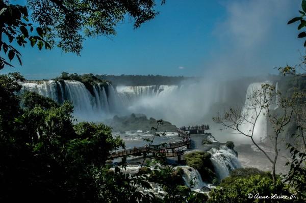 La Gorge du Diable des Chutes d'Iguaçu, Parana, Brésil
