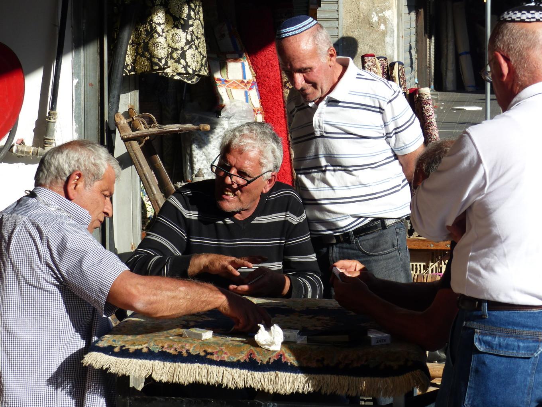 Partie de cartes des boutiquiers de Jaffa, Israël