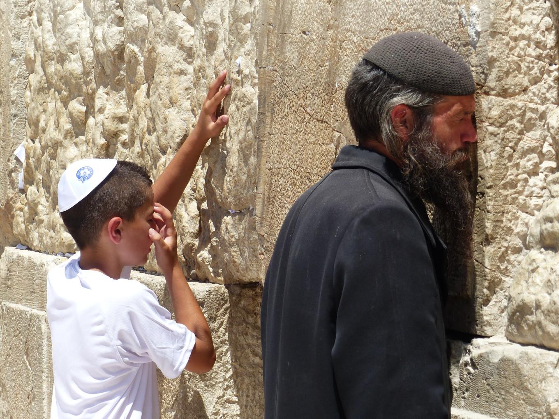 Prière au Mur des Lamentations, Jérusalem, Israël