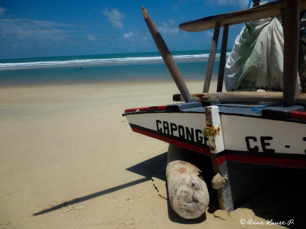 Sur la plage de Caponga, Ceara, Brésil