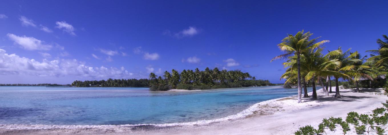 Panorama plage, Bora Bora, Polynésie Française