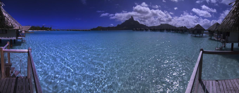 Vue de la chambre, Bora Bora, Polynésie Française