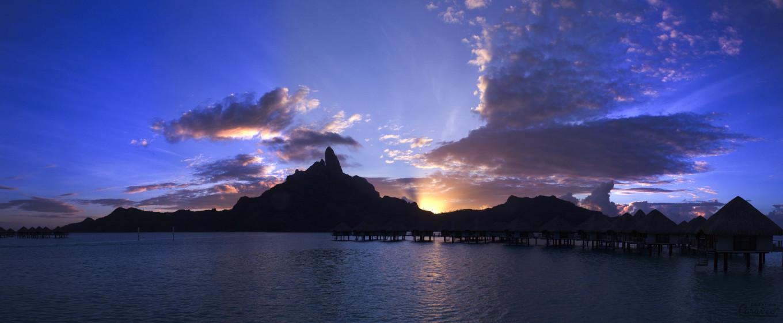 Couleur du soir de l'autre côté de la Terre, Bora Bora, Polynésie Française
