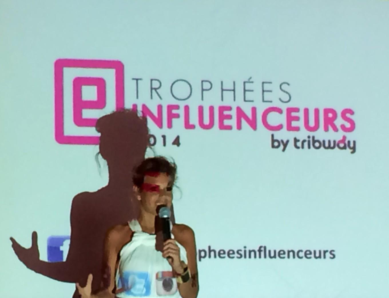 Laura Tenoudji, marraine des Trophées Influenceurs 2014