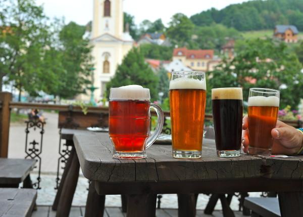 Des bières à Stramberk, République Tchèque