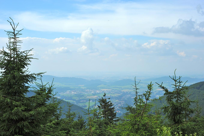 Vue du Mont Rhadhost, Moravie, République Tchèque