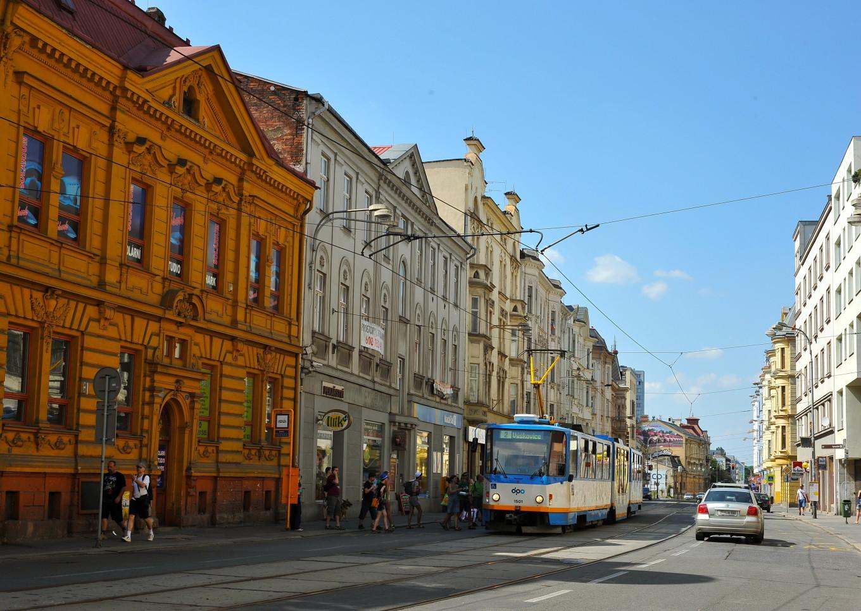 Un tramway à Ostrava, République Tchèque