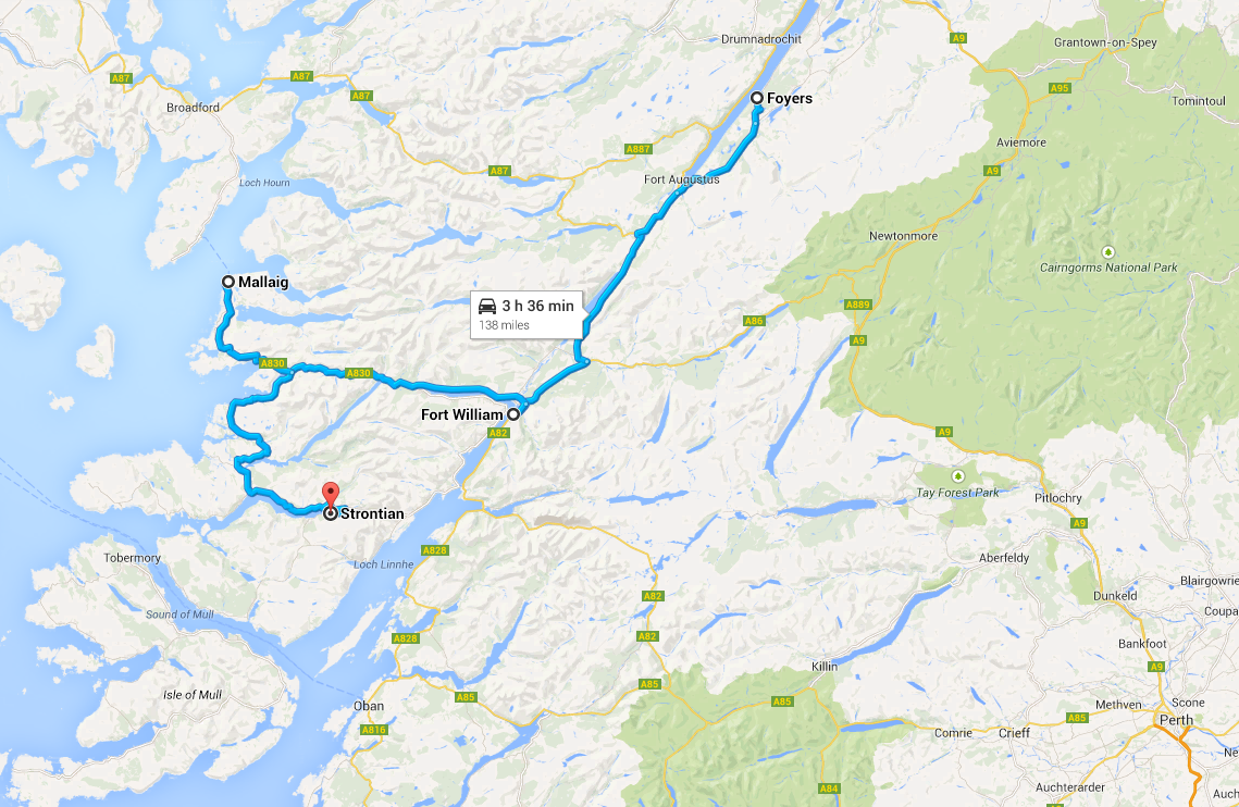 Parcours Day 2 road trip Highlands