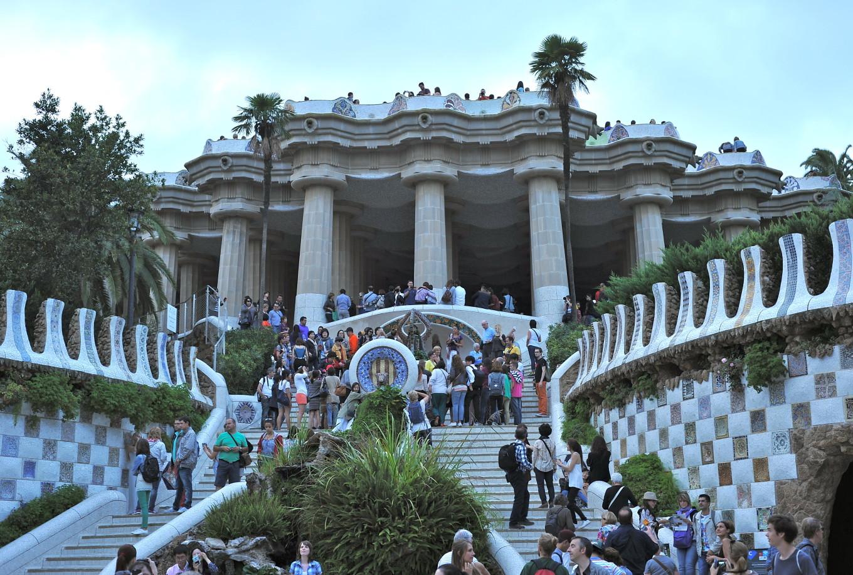 Au Parc Guell, Barcelone, Espagne